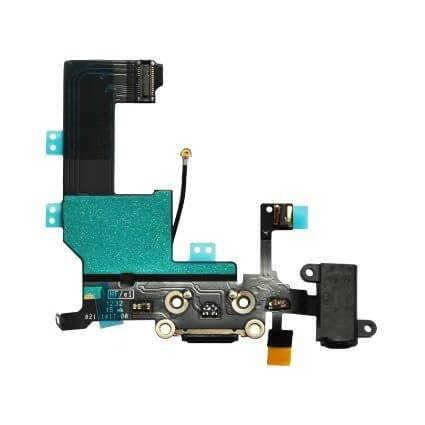 iPhone 5C latausliitin (MUSTA) 2