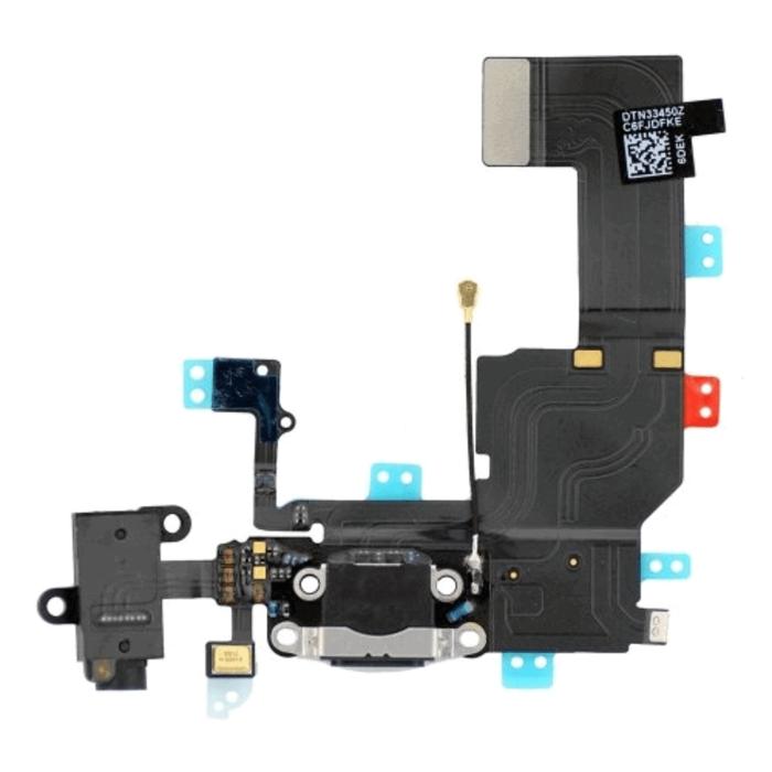 iPhone 5C latausliitin (MUSTA) 1