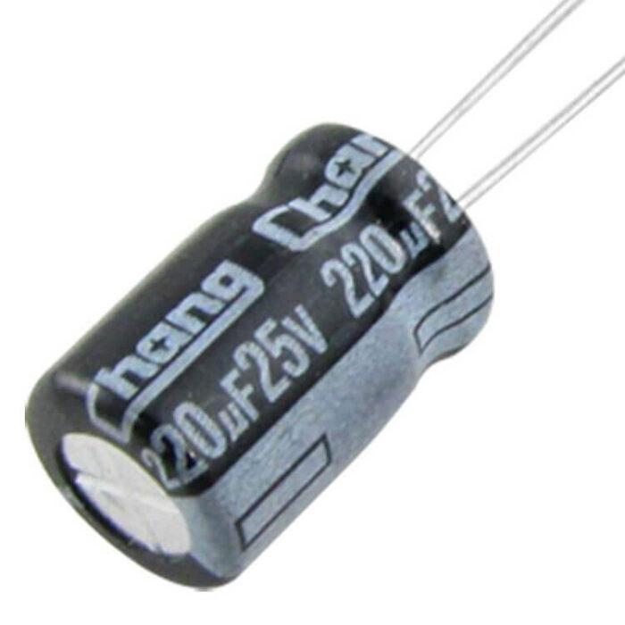 kondensaattori 220uF 25V 1