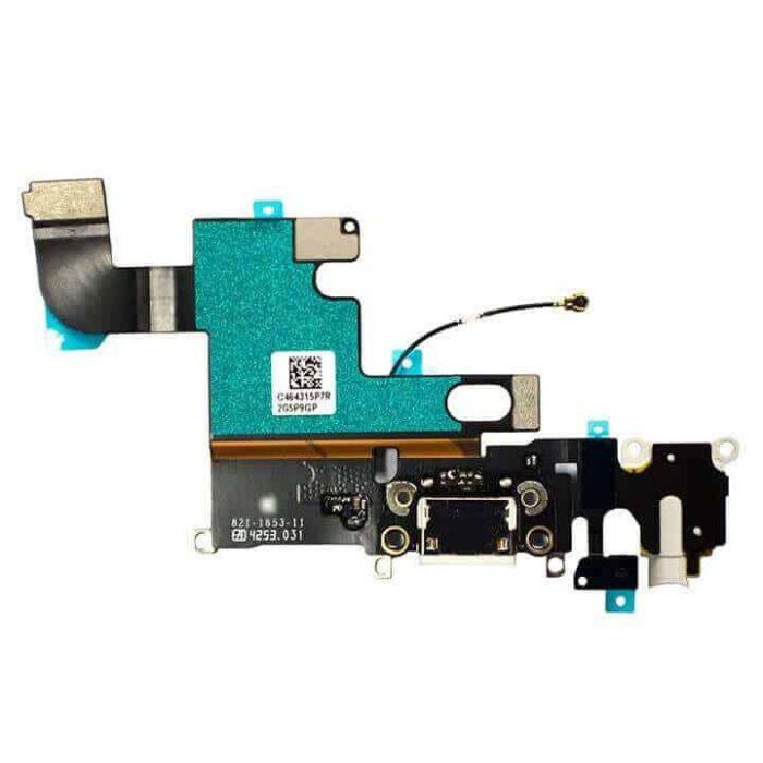 iPhone 6 Plus / 6+ Latausliitin Flex Kaapeli (Valkoinen) 2