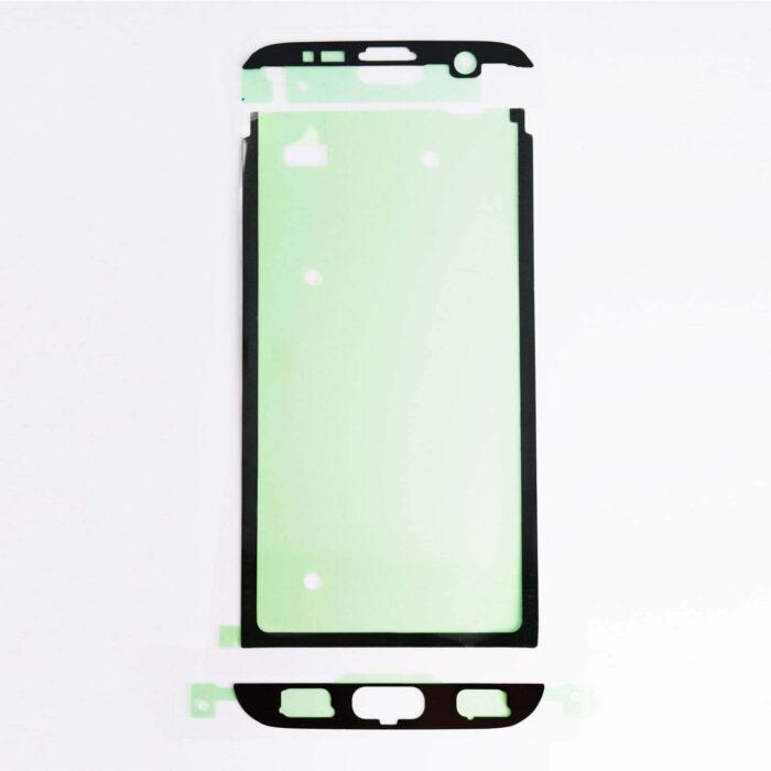 2x Samsung Galaxy S7 Edge näytön Tarrat- Adhesive 1