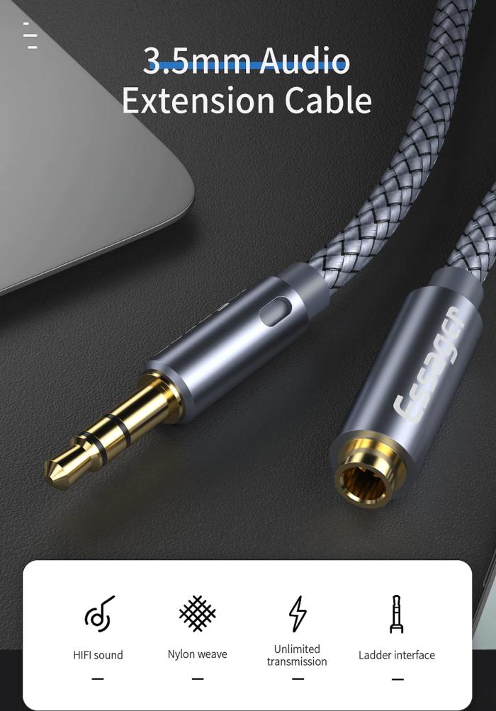 ESSAGER AUX-jatkokaapeli 3.5mm n/u 2