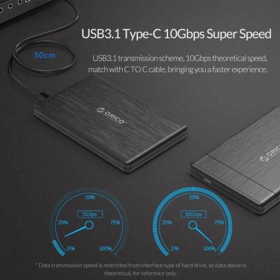 """SATA ulkoisen kovalevyn kotelo Type-C 2.5"""" HDD/SSD 4"""