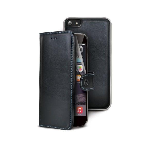 CELLY iPhone 6 / 6S Musta kuori + lompakko + suojakalvo 1