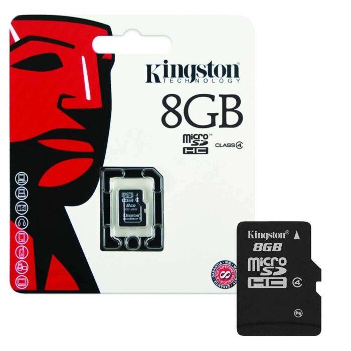 Kingston microSDHC Class 4 8GB muistikortti 1