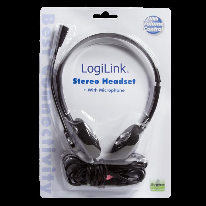LogiLink HS0002 stereokuulokkeet mikrofonilla 2