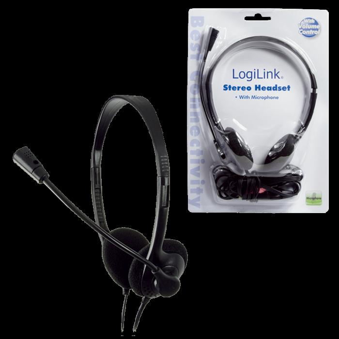 LogiLink HS0002 stereokuulokkeet mikrofonilla 1