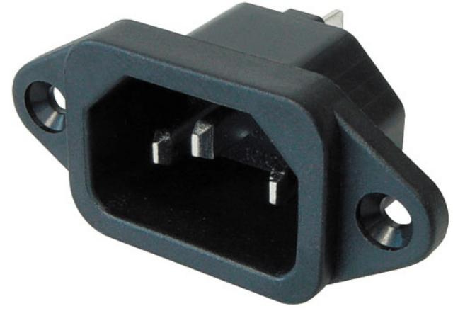 IEC C14 kojeliitinrunko/virtapistoke uros 1