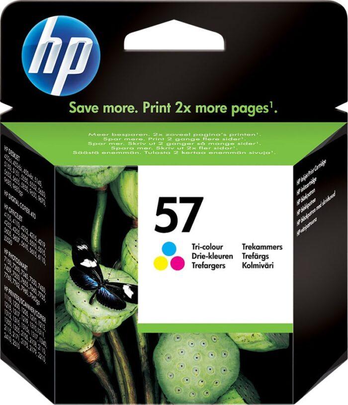 HP 57 kolmivärinen mustekasetti, 500 sivua 1